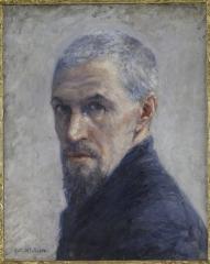 1- Gustave Caillebotte, Portrait de l'artiste, vers 1889 -Huile sur toile, 40,5 x 32,5 cm -Paris, musée d'Orsay, RF 1971 14.jpg
